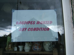 Any condition? (ztephen) Tags: shop scotland any wanted bagpipes aberfoyle condition llntp