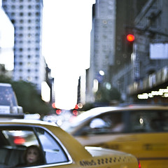 Lady lady (vonSchnauzer) Tags: nyc red 120 6x6 film lady mediumformat square lights traffic manhattan taxi vincent cabs checkered norita vonschnauzer