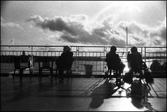 Looking outside the boat 1/3. (flevia) Tags: bw ferry analog blackwhite balticsea baltic bn mistake nophotoshop biancoenero nikonfa foma analogico fomapan nikkor35mmf2 trombonave scannednegatives fomapan400 epsonv700 marbaltico thebaltics autaut epsonperfectionv700photo flevia inmezzoalmare imanalog lookingoutsidetheboat sbagliataesposizioneesviluppo everythingisaccidental