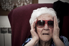Totally Supercool Granny (LipsVago[interpretazionezero]) Tags: woman sunglasses grandmother elderly supercool bigglasses amneris nadina  occhialigrossi iloveyougranny