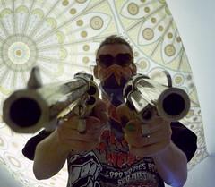 Duck! (Nemo Experiments) Tags: new sunglasses army gun 45 guns bandana revolver colt saa 1858 hawes inyoface revolvers flickershot capnball