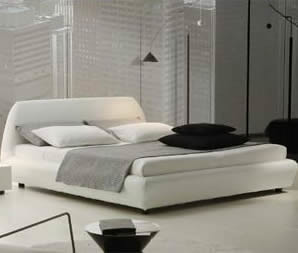 white bedroom-contemporary bedroom