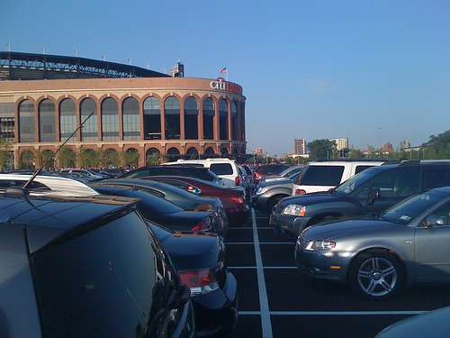A view of Citi Field from the parking lot