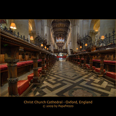 Christ Church Cathedral - Oxford, England (Papafrezzo, 2007-2015 by www.papafrezzo.com) Tags: uk christchurch college church architecture vanishingpoint nikon cathedral oxford hdr christchurchcollege christchurchcathedral photomatix d80 ecclesiachristicathedralisoxoniensis