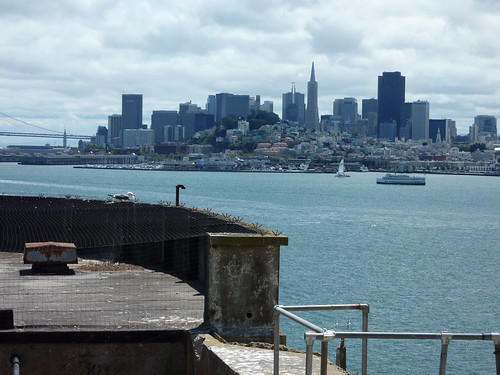 Alcatraz Prison towards San