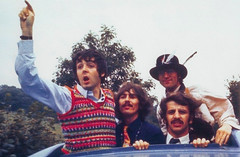 The magical mystery tour is hoping to take you away. (warmguns) Tags: blackandwhite 60s fab4 thebeatles magicalmysterytour fabfour