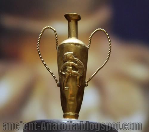 Golden Roman Amphora at Yalvac Museum of Archaeology