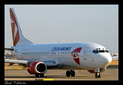 Czech Airlines B737 (Abel Tabbita) Tags: valencia canon airplane airport czech aircraft airlines aeropuerto spotting avion 737800 100400 levc