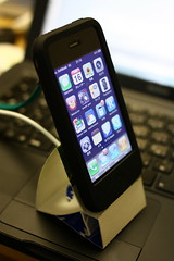 iPhone paper stand
