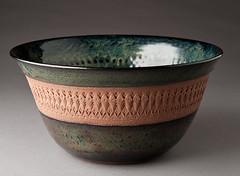 Stoneware Church Key Bowl (natureofclay) Tags: art ceramics handmade crafts pottery handcrafted stoneware artsandcrafts patterned churchkey churchkeyed pressedpattern