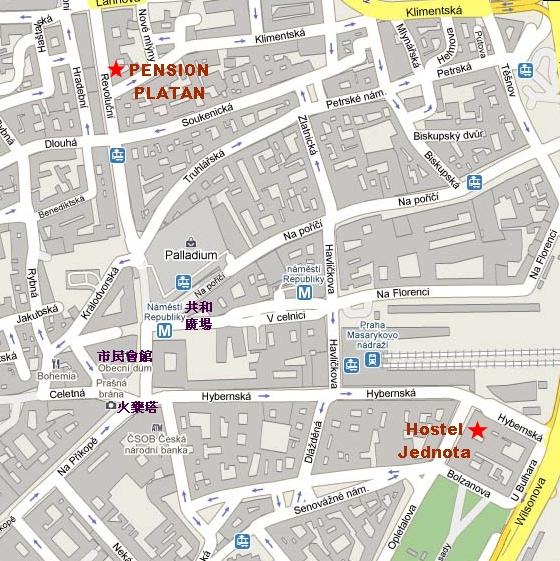 布拉格住宿map