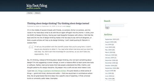 blog » Thinking about design thinking