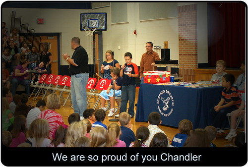 Chandler speaking at school
