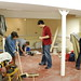 claire, electrician, paul, lorraine busy at work