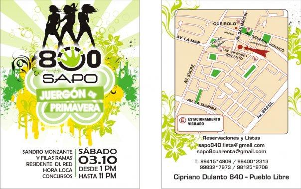 Sapo 840 - Pueblo Libre