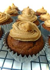 Triple Peanut Cupcakes
