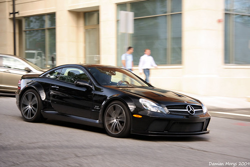 フリー画像| 自動車| スポーツカー| メルセデス・ベンツ/Mercedes-Benz| メルセデス・ベンツ SL 65 AMG Black| ロゴ入り|      フリー素材|