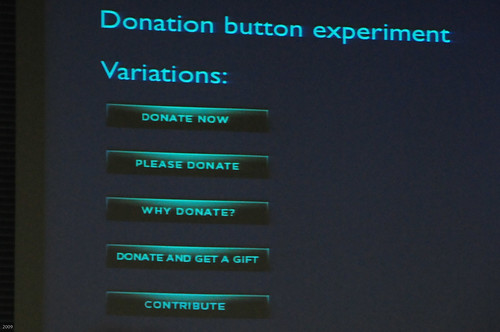Donation button experiment