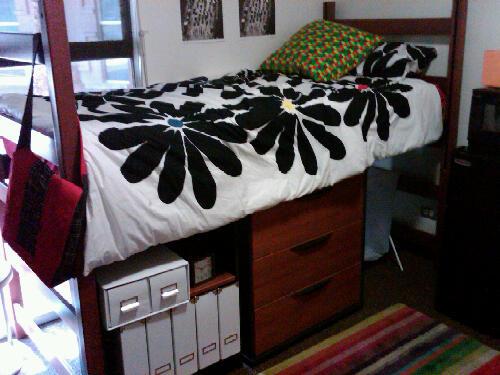 Dorm room odors happen in a nice dorm room