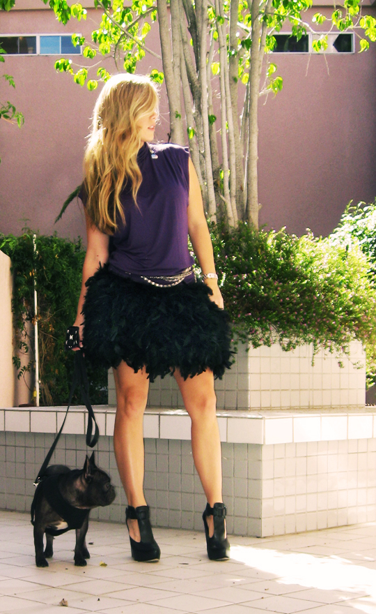feather-skirt -LeRoy, feather skirt diy, d.i.y. feather skirts,