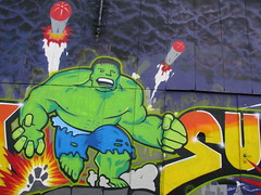 The Incredible... (Been Around) Tags: graffiti sterreich europa europe grafiti travellers eu hulk obersterrei