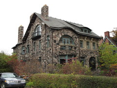 1075 Burns (southofbloor) Tags: city walter house stone architecture village crafts indian russel detroit arts cobblestone burns motor mansion romanesque motown