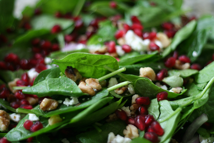 Pomegranate Spinach Salad