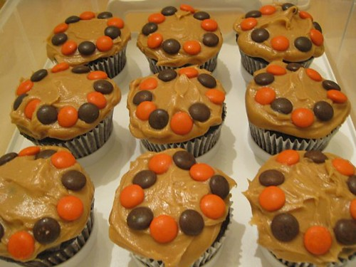 Chocolate Peanut Butter Cupcakes 2