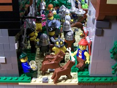 Orc Escape (Garbageman13) Tags: house tree castle classic river town cherries escape village lego tudor fantasy soldiers warrior crown troll outlaw moc cccvii