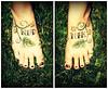 NudNik My tattoo'd feetsies.