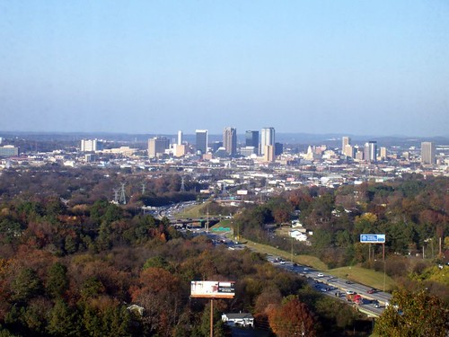 View of Birmingham, Alabama USA from hotel window