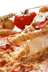 italy food black mushroom vegetables closeup cheese dinner tomato pie ...
