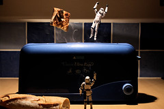 Breakfast Propulsion (Stfan) Tags: breakfast bread toy actionfigure starwars pain jump toaster toast stormtroopers stormtrooper figurine jouet hasbro petitdjeuner grillepain stormtroopers365 lifeonthedeathstar