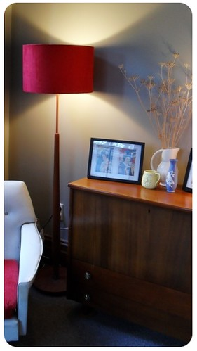 Lamp and sideboard