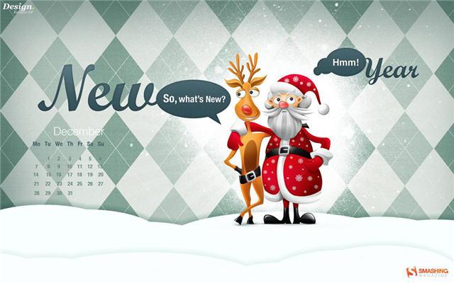 Merry Christmas And Happy New Year 2015 4k Hd Desktop: 2009년 12월용 배경화면 달력 __ 부스카의 ComFunny