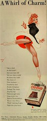 1940s OLD GOLD cigarettes vintage advertisement illustration PETTY PINUP GIRL ICE SKATER (Christian Montone) Tags: girls women iceskating smoking 1940s upskirt skater cigarettes pinup petty oldgold vintageillustration vintageadvertisements pimup