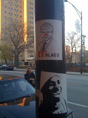(theres no way home) Tags: street chicago art sticker sharkula thig yob blagojevich belmontandclark northof itsblago