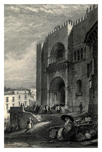 037-Sta. Velha o antigua catedral de Coimbra-The tourist in Portugal 1839- James Holland