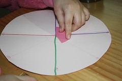 measuring with homemade tool