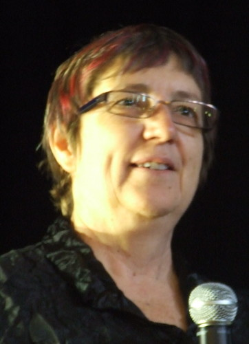 Judy McVeigh at Save Solar Systems public meeting, Fitzroy Town Hall, Napier St, Fitzroy Melbourne, Victoria, Australia 091203-20