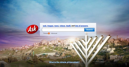 Chanukah Ask.com Theme