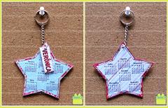 Chaveiro Calendrio Estrela (caixela) Tags: estrela scrap chaveiro calendrio