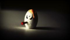 Egg Smoking Cigarette.