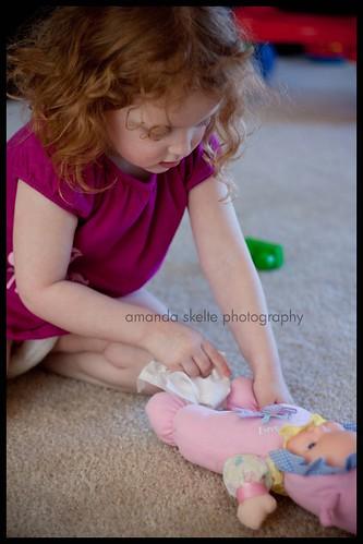 aidan changing baby doll