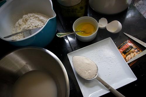 getting read to make garlic naan