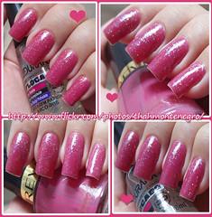 Plum Baby (766) - Revlon + Arco íris - Ludurana Flocado + Mucuri - Dote♥ (Thálita ♥) Tags: arcoiris rosa brilho unha revlon dote esmalte mucuri flocado plumbaby ludurana