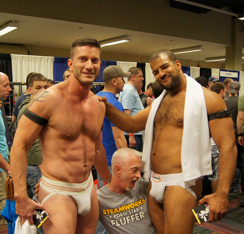 Gay porn fluffer