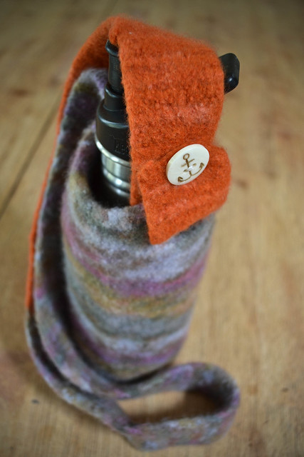 felted water bottle holders!