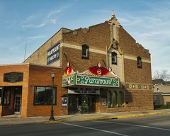 Of Paramount Importance (Pete Zarria) Tags: minnesota movietheater cinema smalltowns city neon sign marquee film hollywood noir camera picture moving oscar emmy outdorrs architecture
