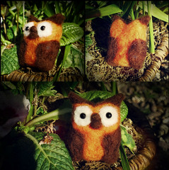 Eyes Of The Owl (Midnight Hoots) Tags: needle felted needlefelted felt animals wildlife nature cute soft wool handmade craft crafts crafted handcrafted art 3d